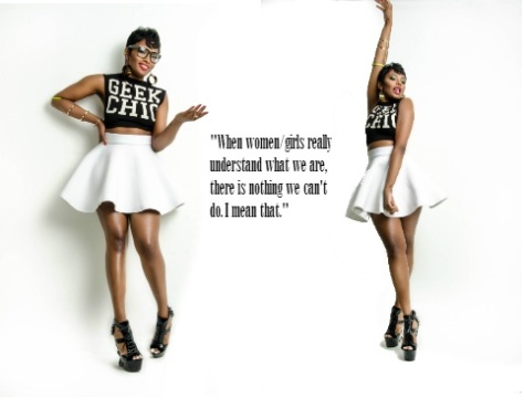 #LAHHATL Ariane Davis in iM- the Geek Chic tee for Urban a Socialites Mag
