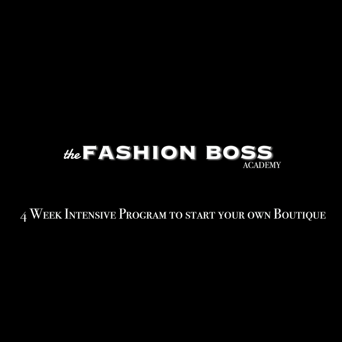 BECOME YOUR OWN FASHION BOSS
